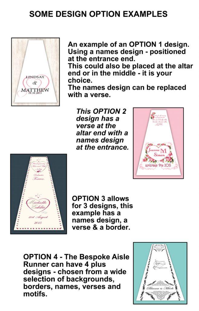 wedding aisle runners design options