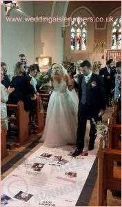 photo wedding aisle runner