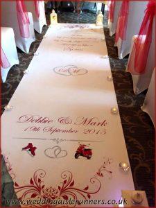 personalised wedding aisle runner