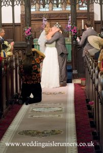vintage wedding aisle runner