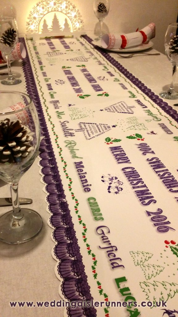 Design -8 personalised christmas table runner