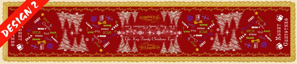 personalsied christmas table runner