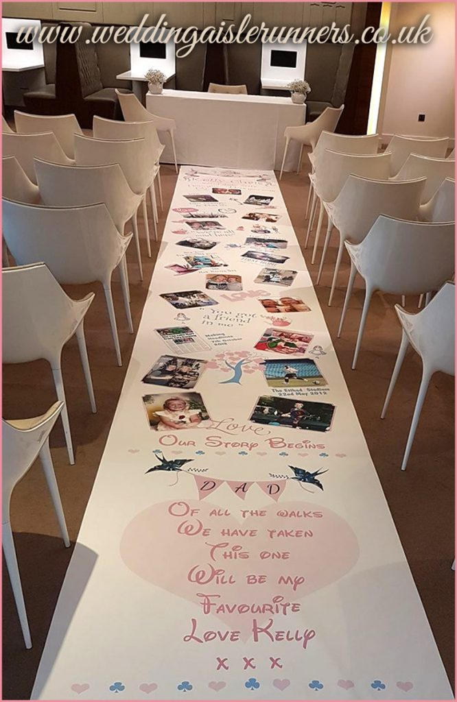 Kelly's Lovestory Timeline Wedding Aisle Runner
