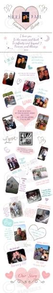 Lovestory timeline wedding aisle runner design