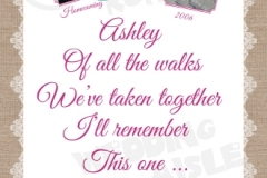 Lovestory timeline wedding aisle runner design