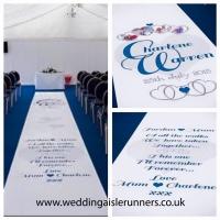 Charlene & Warren wedding aisle runner