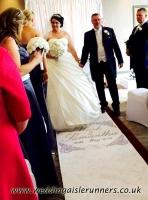 Mark & Samantha wedding aisle runner 2