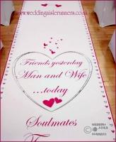 Michelle & Eddie wedding aisle runner 2