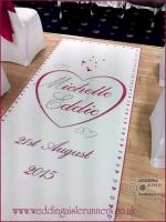 Michelle & Eddie wedding aisle runner 3
