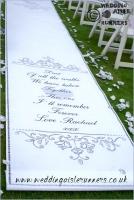 Rachael & Andrew wedding aisle runner 1