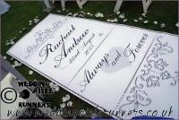 Racuael & Andrew wedding aisle runner 3