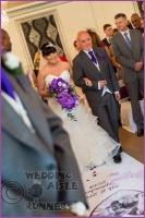 Victoria & Rajesh wedding aisle runner 1