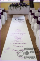Victoria & Rajesh wedding aisle runner 3