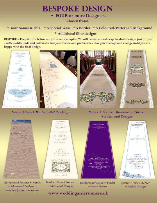 Bespoke Wedding Aisle Runner