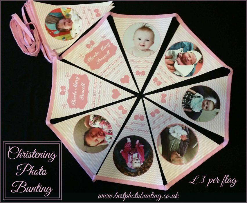 christening photo bunting
