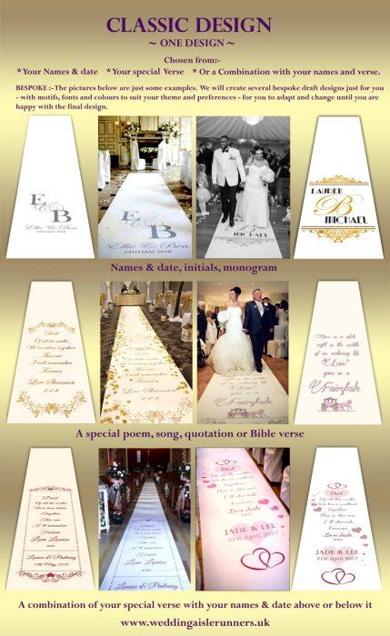 Classic Wedding Aisle Runner