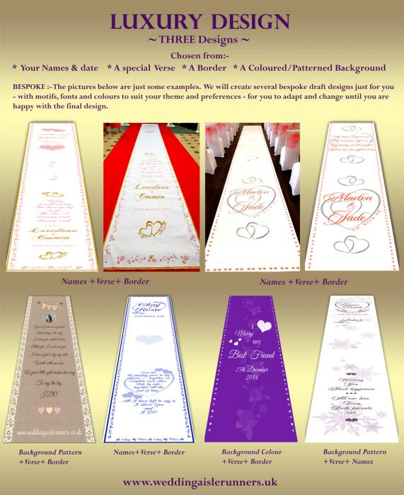 Luxury Wedding Aisle Runner